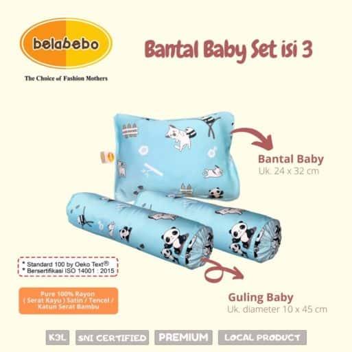 Bantal Baby set isi 3 belabebo