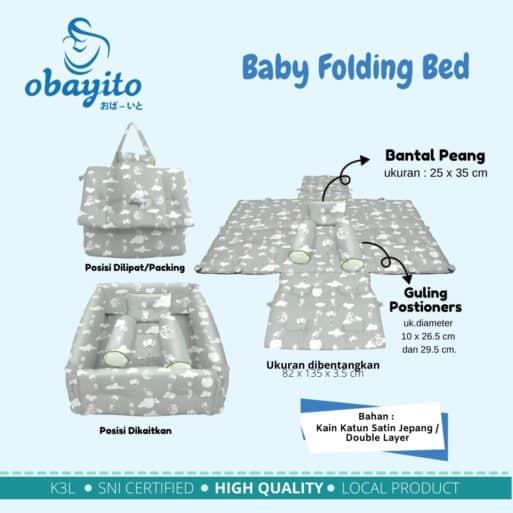 Ukuran Baby Folding Bed Obayito